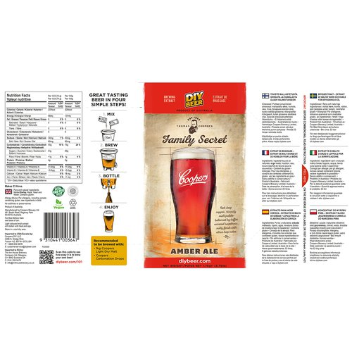 Brewkit Coopers Family Secret Amber Ale - 5 ['amber ale', ' piwo', ' brewkit']